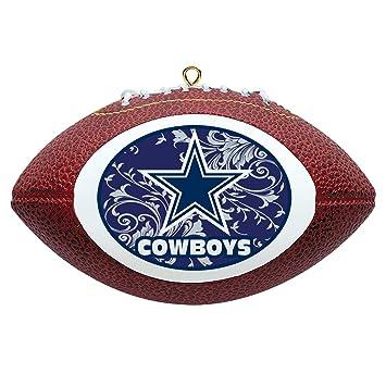 Amazon.com : NFL Dallas Cowboys Mini Replica Football Ornament ...