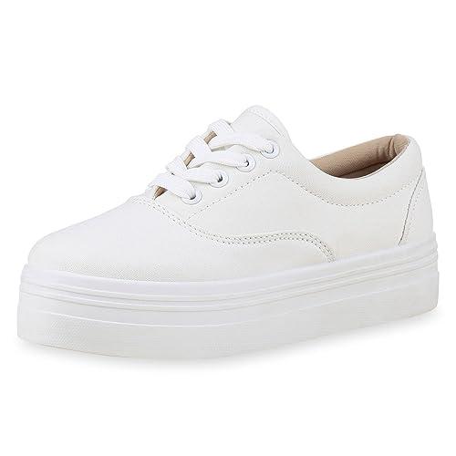 Damen Plateau Sneakers 90s Style Sportschuhe Freizeit Schuhe