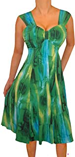 product image for Funfash Plus Size Women Emerald Green Empire Waist Slimming Cocktail Dress