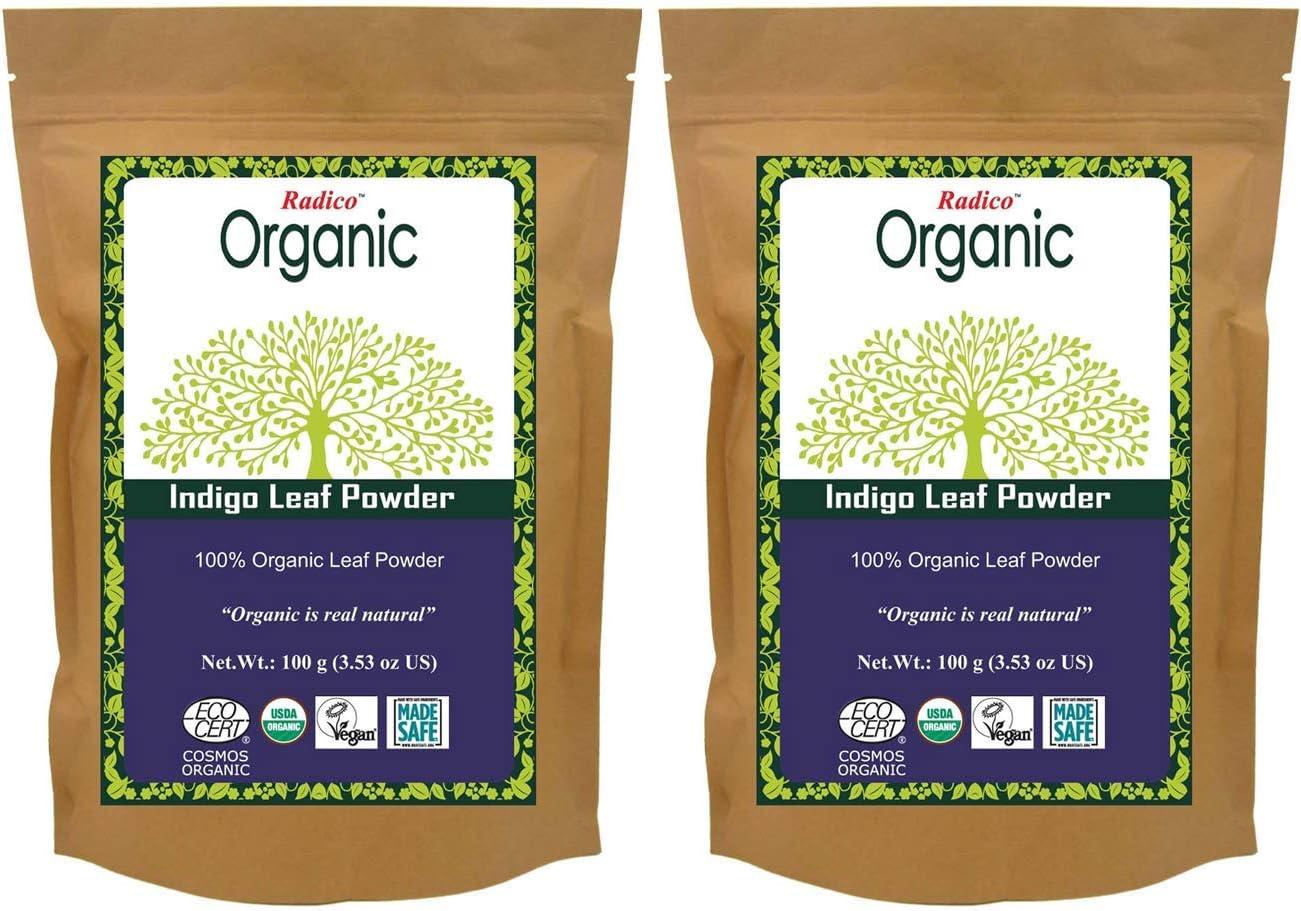 Radico Indigofera Tinctoria - Polvo (2 paquetes de 100 g, bio, vegano)