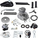 "PanelTech 48CC 49CC 50CC 2-Stroke Engine Gas Kit fits 26"" 28"" Motorized Mountain Bicycle Bike (Silver)"