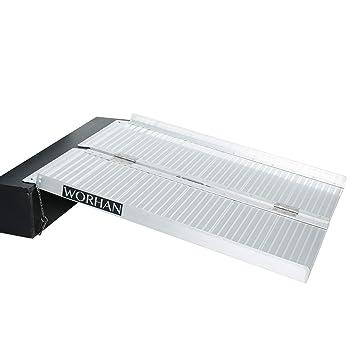 WORHAN® 91.5cm Rampa Plegable Carga Silla de Ruedas Discapacitado Movilidad Aluminio R3: Amazon.es: Electrónica