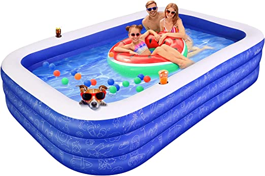 Inflatable Swimming Pool for Kids, AirExpect 120