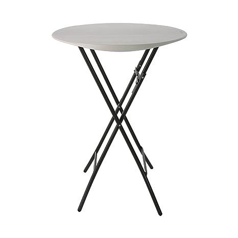 Lifetime Table Pliante de Bistro 0,84 m, Ronde, Blanche ...
