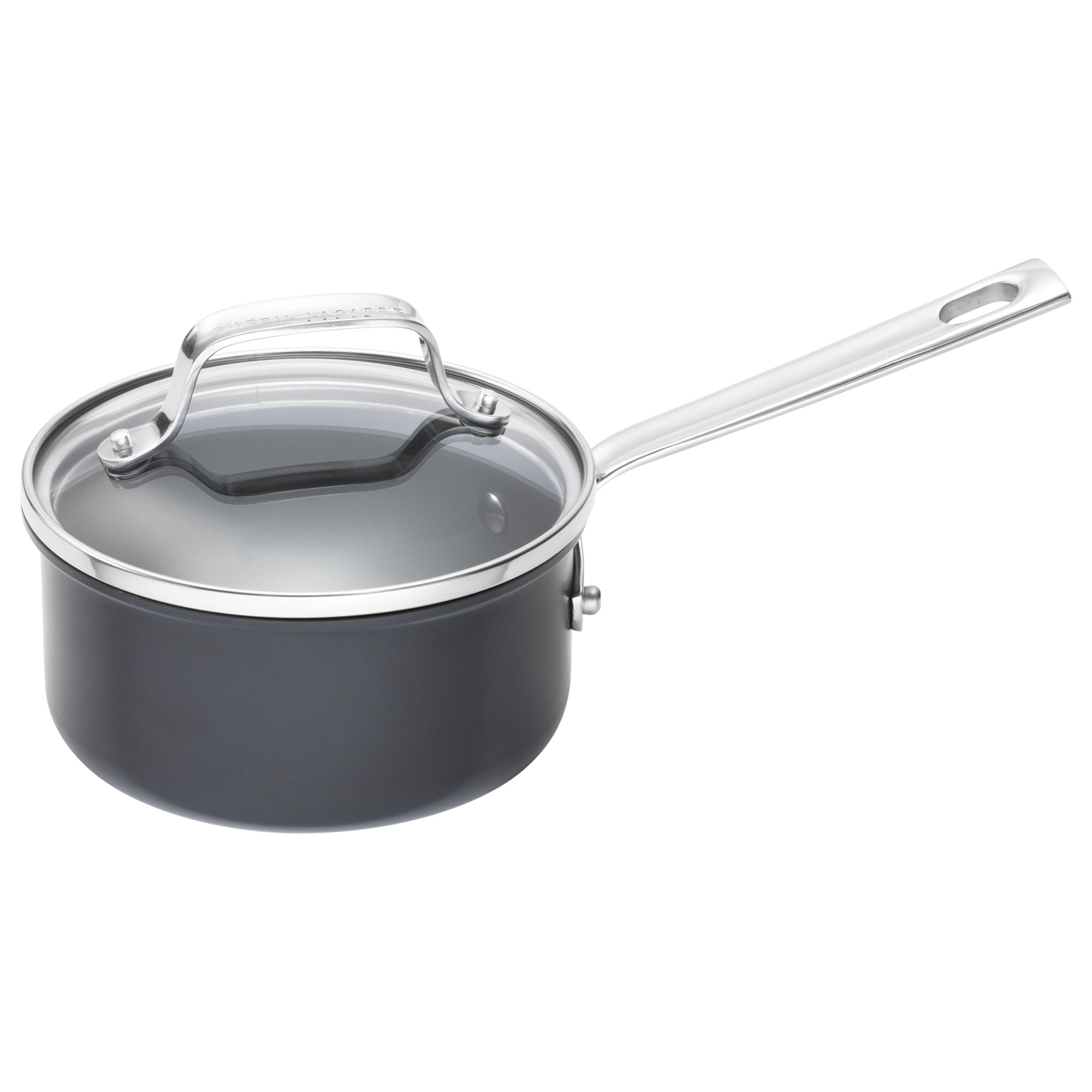 Emeril Lagasse 62926 Dishwasher safe Nonstick Hard Anodized Saucepan, 1-Quart,Gray