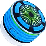 Bluetooth Shower Speaker with FM Radio, MAXIN Waterproof Wireless Portable Bluetooth V4.0 Speaker with Mp3 Player,Speakerphone and Multiple Color LED Light Functions
