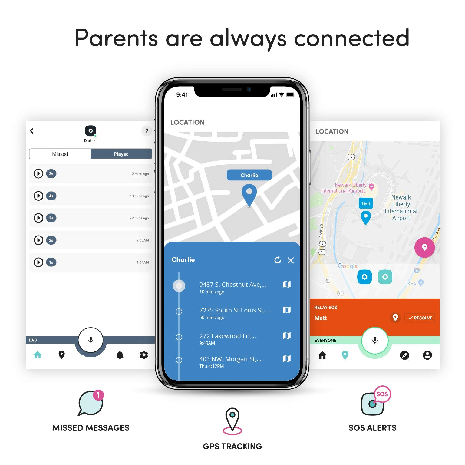 Relay Kids Phone Alternative: A Screen-Free Smarter Phone with 4G LTE Nationwide Range, Walkie Talkie Ease, and a GPS Tracker fo by Relay (Image #4)