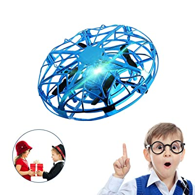 SUNFATT UFO Drone for Kids,Kids Drone Flying Toy Hand Controlled with LED Light 360° Rotating Helicopter for Boys Girls Family Indoor Interactive Game Gift.: Toys & Games