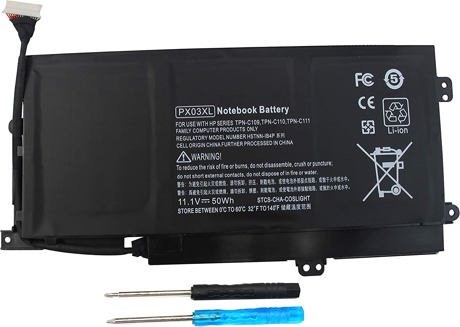 Shareway PX03XL 50Wh Replacement Laptop Battery for HP Envy 14 14-K010US 14-K027CL M6-K010DX M6-K015DX TPN C109/C110/C111 714762-421 714762-422