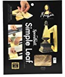 Speedball Mona Lisa Gold Simple Leaf For Metal Leafing Projects, 5-1/2 x 5-1/2 Inches - 18 Pack