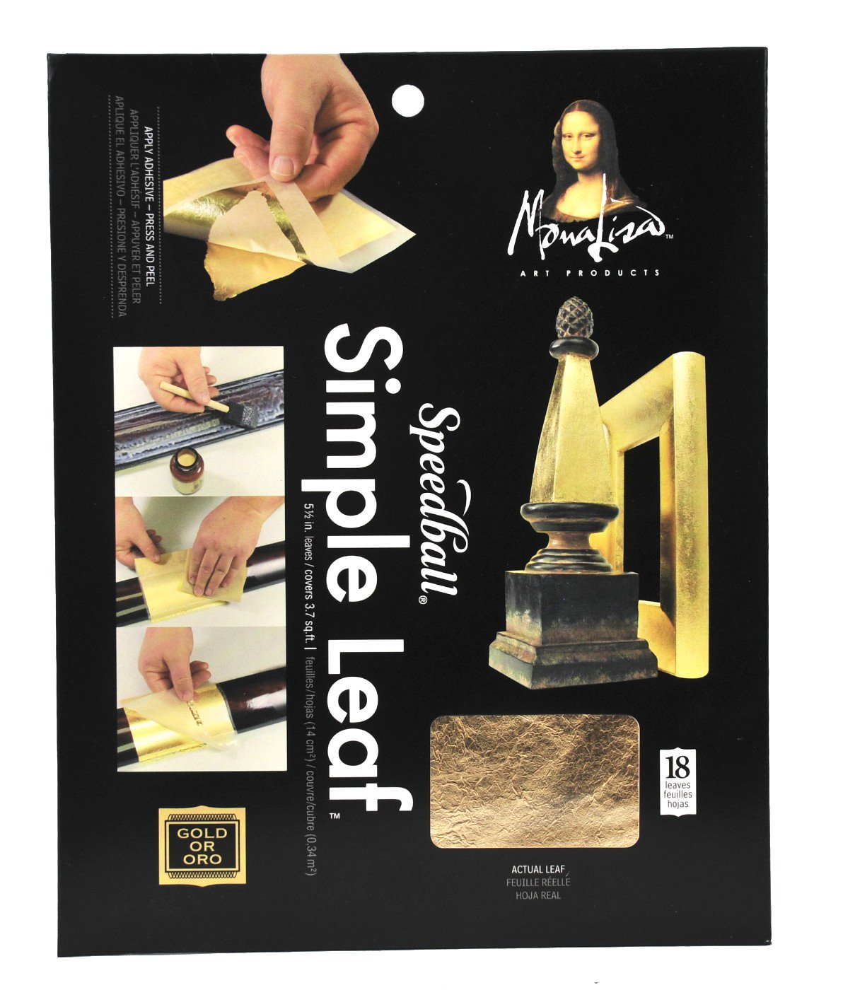 Speedball 10032 Mona Lisa Copper Simple Leaf For Metal Leafing Projects, 5-1/2 x 5-1/2 Inches - 18 Pack