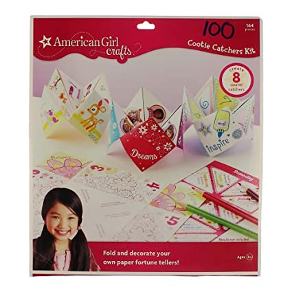 Amazon Com American Girl Cootie Catcher Paper Craft Kit For Girls