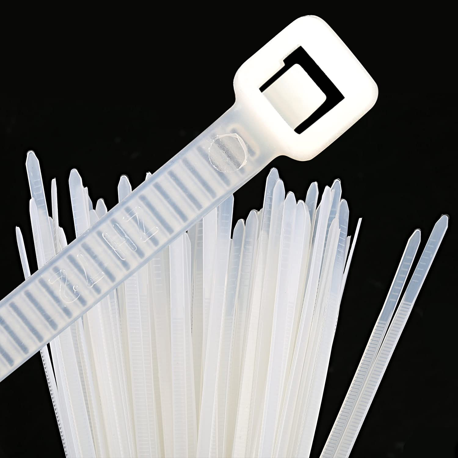 Blanc 100 // 150 // 180 // 200 // 300 mm GWHOLE Lot de 500 Attaches de Cable Autobloquant Liens Nylon Zip Cable Ties