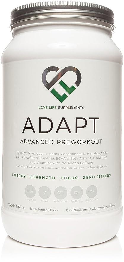 ADAPT Superior Entrenamiento previo | 900g - 30 Porciones | Hierbas Adaptogénicas, Creatina, BCAA