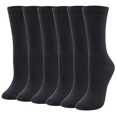Ladies Women's Merino Wool Dress Socks, Black Winter Warm Breathable Sweat-wicking Lightweight Business Wool Socks (3 Pairs-Black) at Women's Clothing store