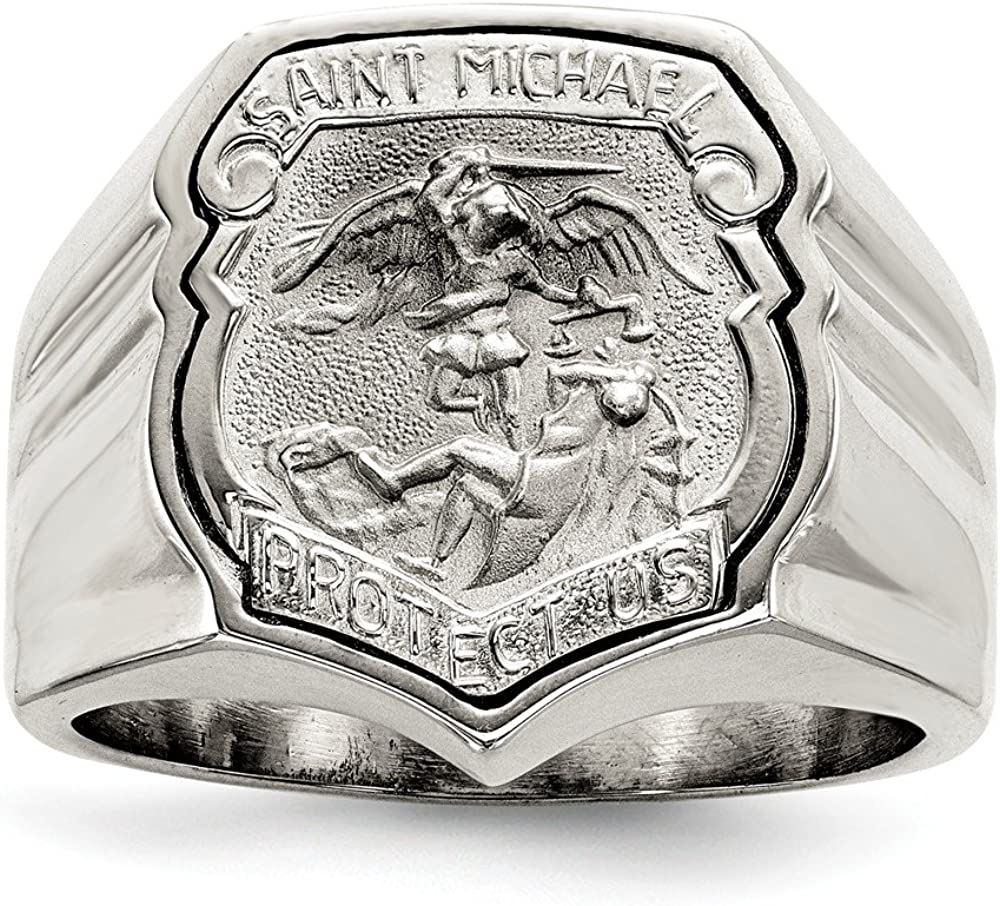 SSQGold-Rings .925 Sterling Silver Saint Michael Ring