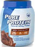 Pure Protein Natural Whey Powder - Rich Chocolate, 1.6 pounds