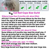 JOYJULY 140pcs Pet Cat Kitty Soft Claws Caps