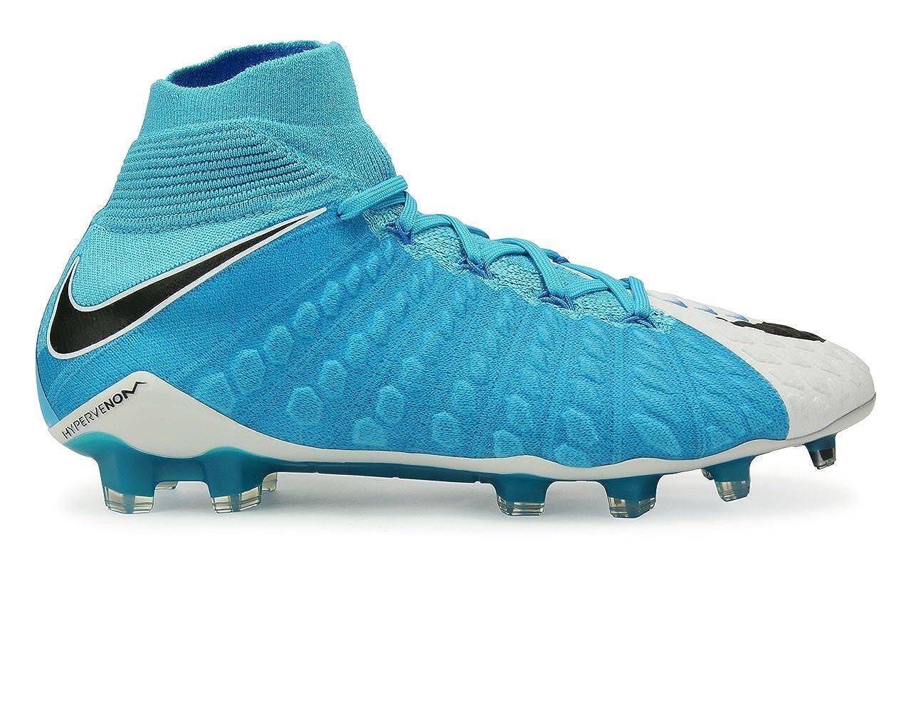 best website fba99 b90d5 Nike Men's Hypervenom Phantom Iii Dynamic Fit Fg White/Black/Photo Blue  Soccer Shoes