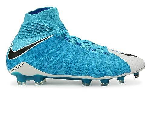 new concept 28642 18aa1 Nike Men s Hypervenom Phantom Iii Dynamic Fit Fg White Black Photo Blue  Soccer Shoes