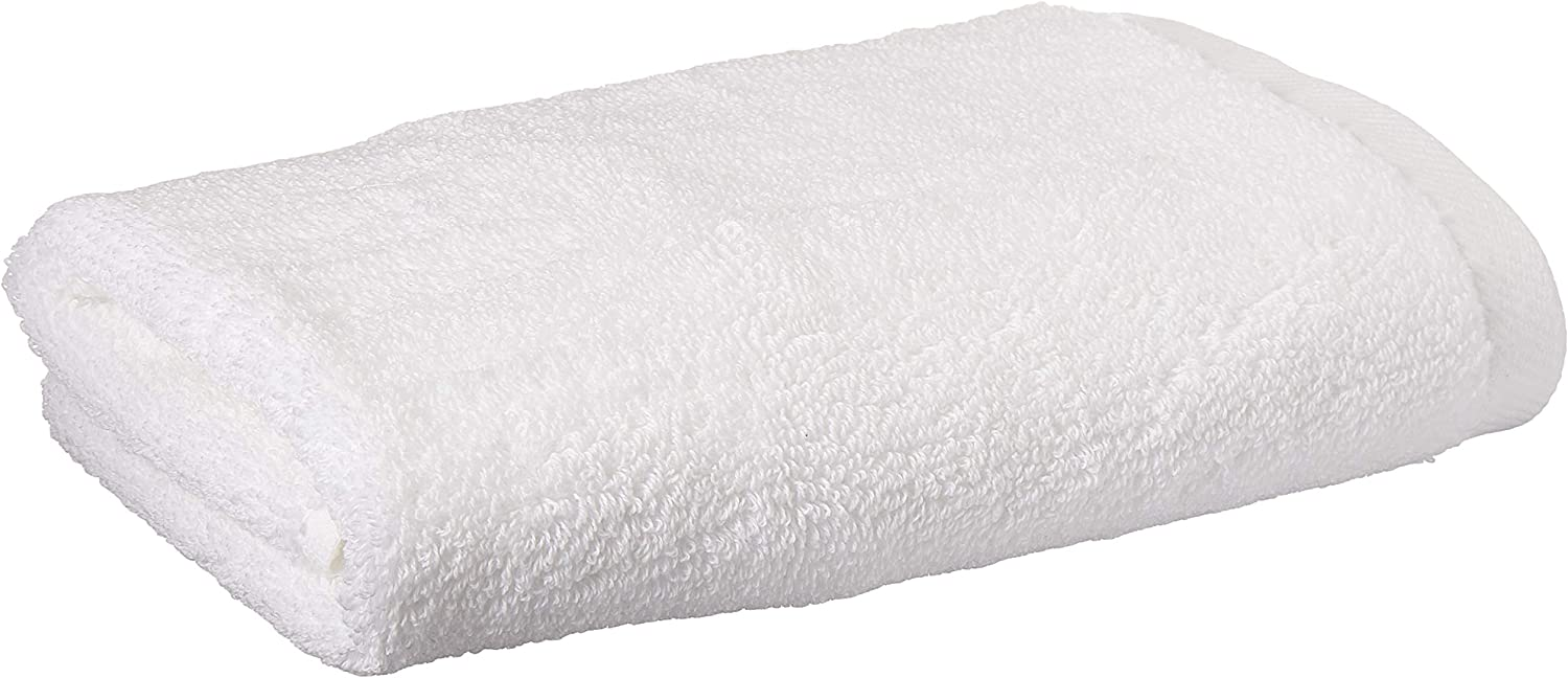 Classic Egyptian Cotton Hand Towel By Izod Premium Soft Absorbent Sport Home Machine Washable Optical White Home Kitchen