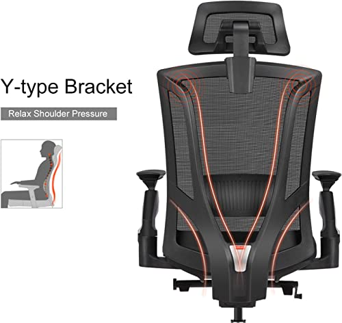 MIISLAIN Ergonomic Mesh High-Back Office Chair