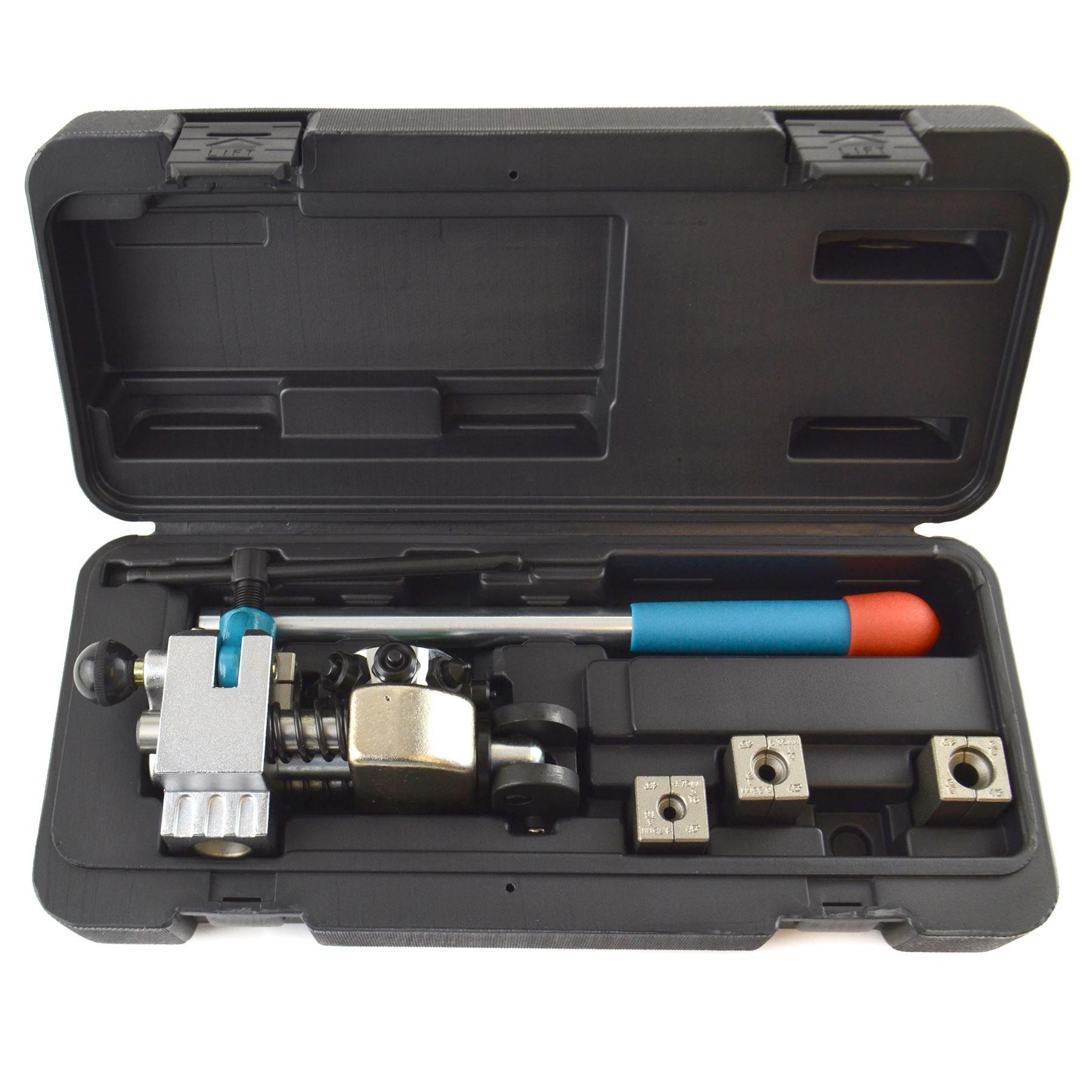 AB Tools-Toolzone Professional Turret Brake Tube Flare Brake Pipe Flaring 4 x Dies Fuel Lines TE913