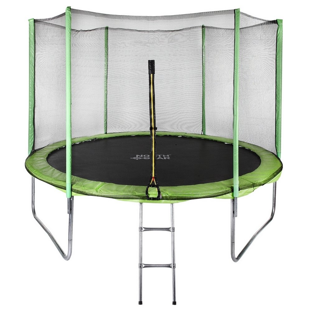 North Gear 10 Foot Trampoline Set with Safety Enclosure and Ladder by North Gear