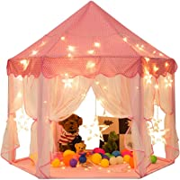 Mumoo Bear Princess Castle Tent for Girls Fairy Play Tents for Kids Hexagon Playhouse for Children or Toddlers Indoor or…