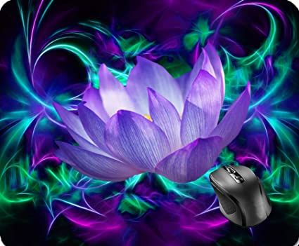 Amazoncom Shaq Purple Lotus Flower And Its Meaning Mouse Pad 86