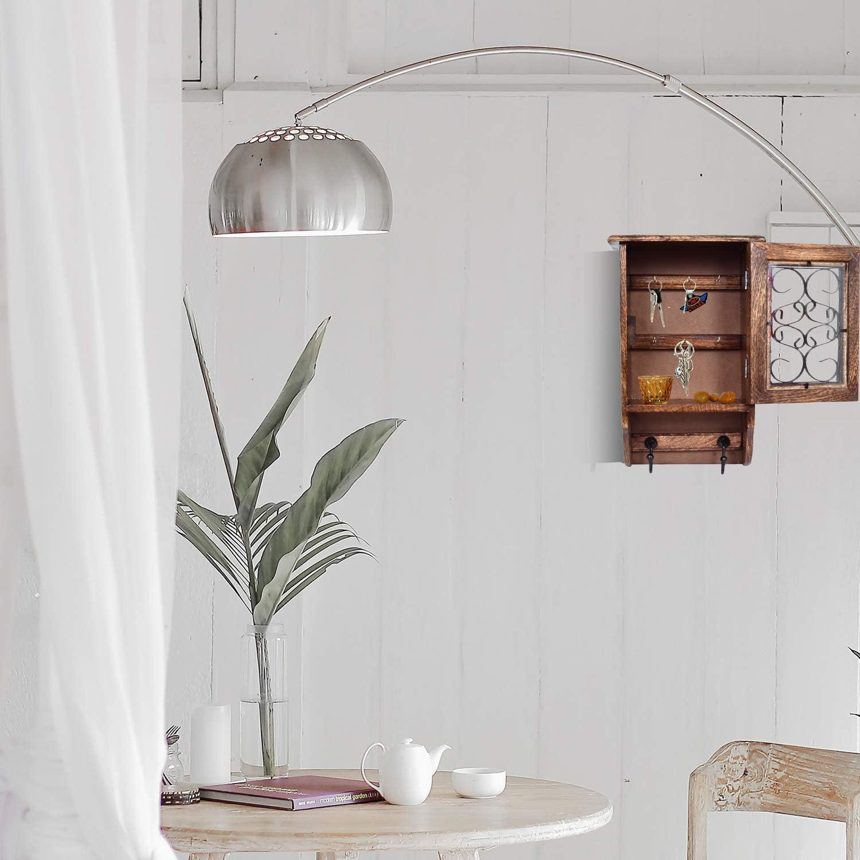in legno per decorazione da parete Portachiavi decorazione della casa portachiavi WILLART da parete dimensioni: 13,50 x 8,50 pollici da appendere alla parete con ganci per giacche