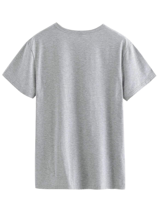 Waltzmart Women Thou Shalt Not Try Me Letter Print T-Shirt Crew Neck Solid Color Tops Tee