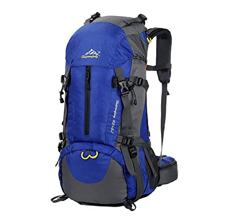 Esup Hiking Backpack, 50L Multipurpose Mountaineering Backpack with Rain Cover 45L 5L Travel Camping Backpack, Suitable for Climbing Skiing Outdoor Sport