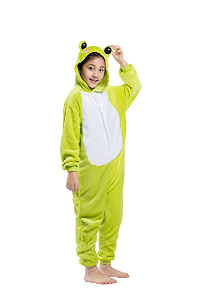 YUWELL Children Frog Pyjamas Onesie Costume Sleeping Wear Animal Cosplay
