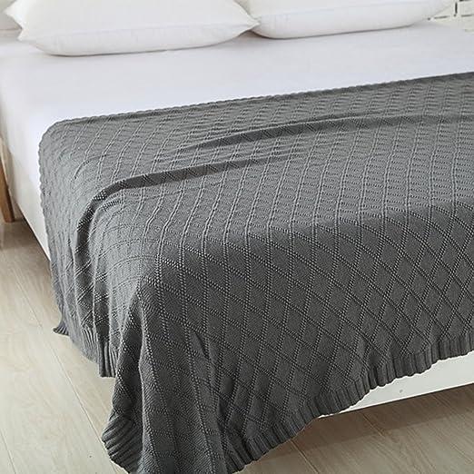 Jannyshop Manta de punto de algodón elástica para sofá o cama ...