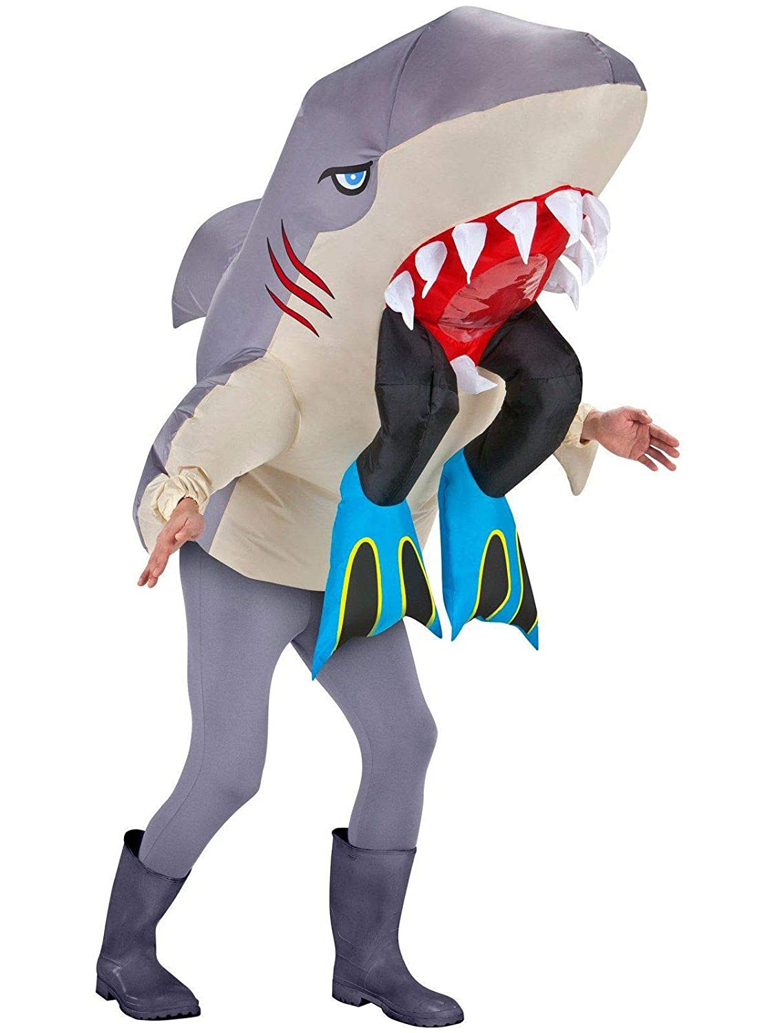 Inflatable Shark Costume - Halloween Costume for Men and Women - Funny Costumes