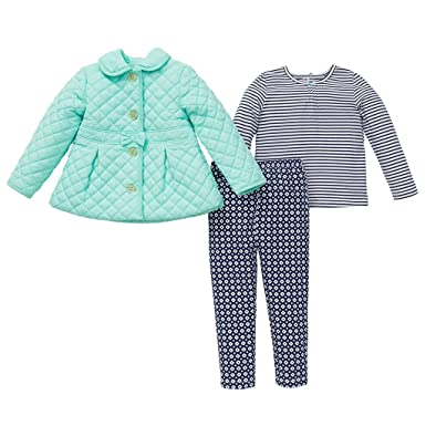 bf2c70af90b72 Amazon.com: Little Me 3 Piece Jacket, Shirt, Legging Set for Girls: Clothing