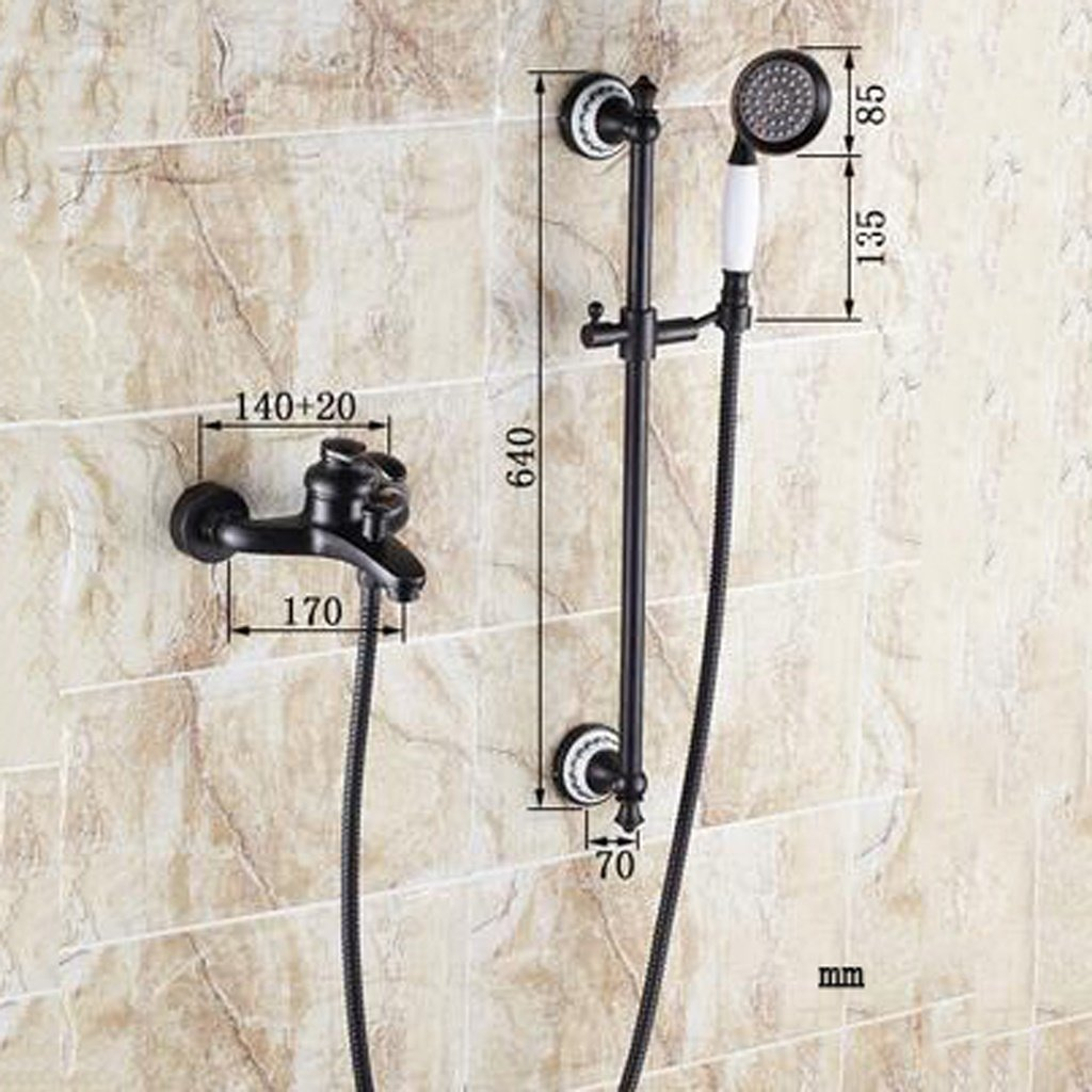 Amazon Com Momo Dusche Set Schwarz Antiken Dusche Wasserhahn Kupfer