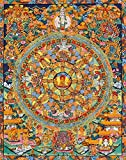 Shakyamuni Buddha Mandala -Tibetan Buddhist - Tibetan Thangka Painting