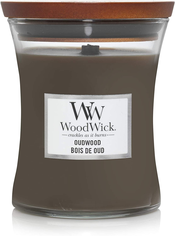 Sandelholz Woodwick Petite Kerze Duftrichtung Sueded Sandalwood
