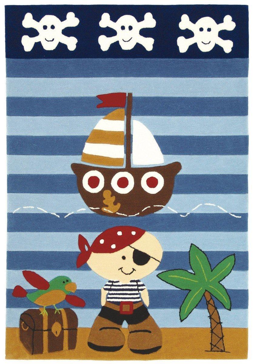 Wissenbach Kinderteppich Teppich Lifestyle Kids 2480 - Pirat , Größenauswahl:120 x 180 cm