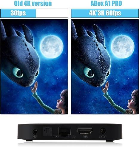 2017 glob Mall Abox Pro Android 6.0 de TV Box con la última HF – Mando a distancia (15 metros área de trabajo, 360 ° Full Control, no hay necesidad, punto en