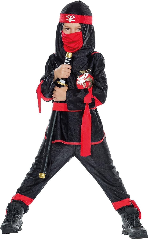 Mottoland GmbH Traje de los niños Negro Ninja Luchador Guerrero ...