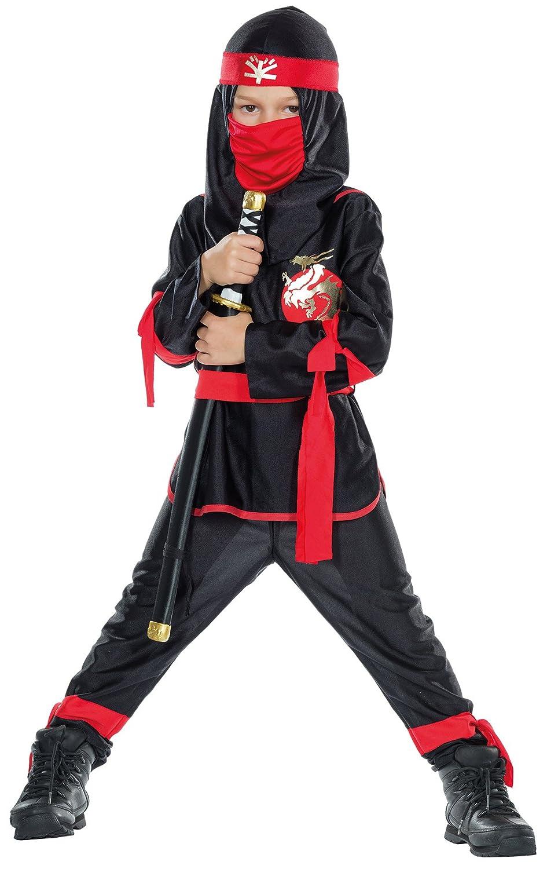 Mottoland GmbH Traje de los niños Negro Ninja Luchador ...