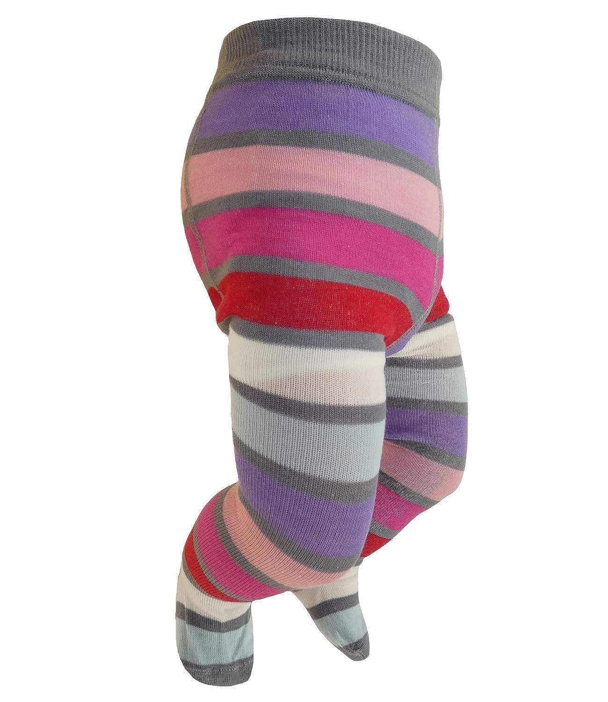 EveryKid Sarian Babystrumpfhose Mä dchenstrumpfhose Strumpfhose Markenstrumpfhose Merinowolle ganzjä hrig gestreift fü r Babys (SA-E-1008-W18-BM0) inkl Fashionguide