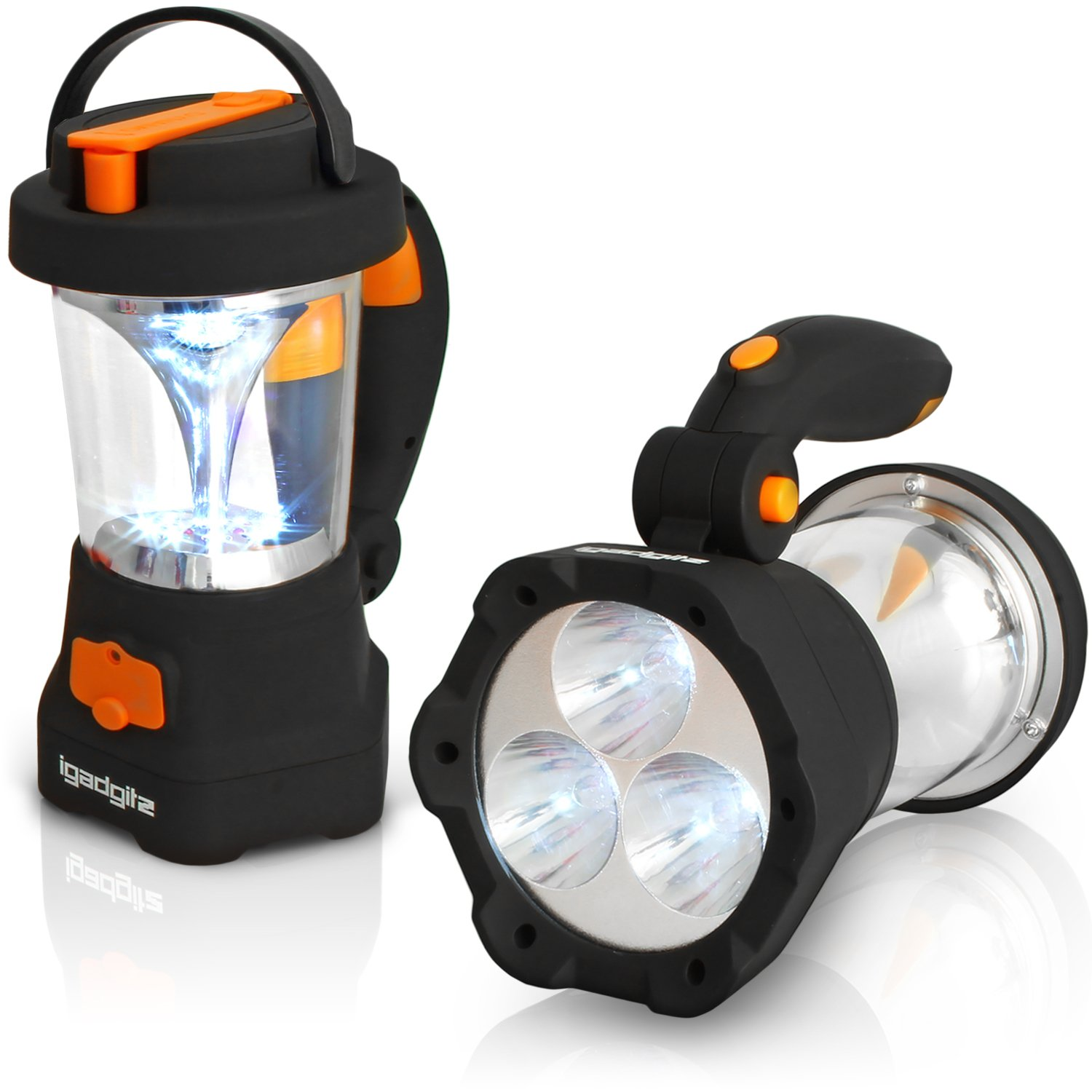 iGadgitz Xtra Lumin 4 in 1 Dynamo Rechargeable 3 LED Spotlight Torch & 10 LED Lantern + 1 Year Warranty by igadgitz