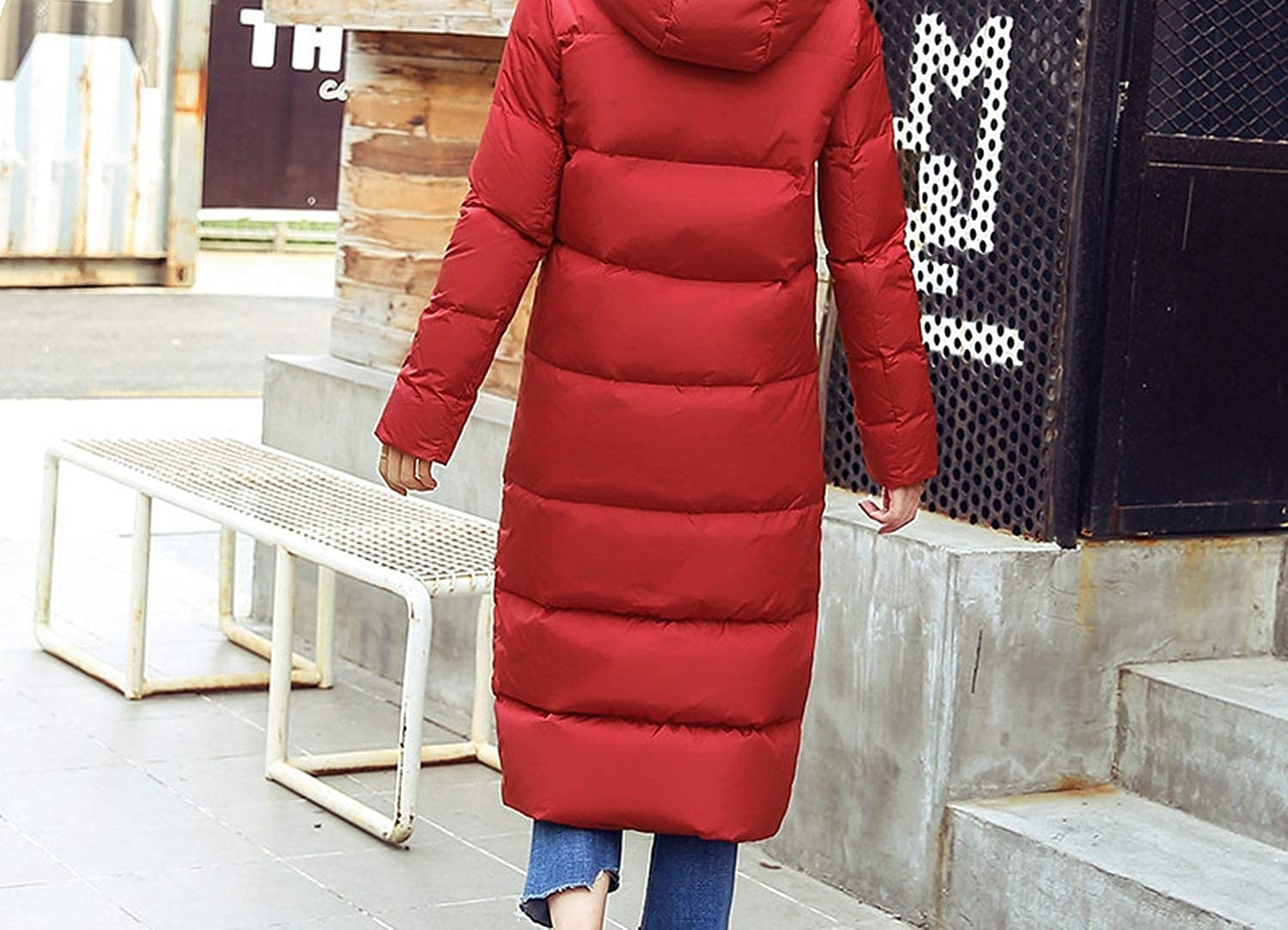 100expectations Winter Coat Warm White Duck Down Jacket Ladies Down Coats Hooded Thick Parka Solid Puffer Outerwear Black L Clothing Coats Jackets Vests
