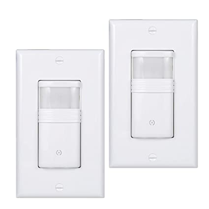 Fine Pack Of 2 White Motion Sensor Light Switch Neutral Wire Required Wiring 101 Tzicihahutechinfo