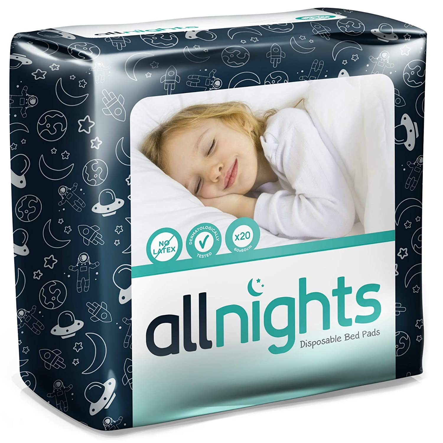 Coprimaterasso Usa E Getta.Drylife All Nights Disposable Bed Pads 60x60cm 1 Pack Of 20