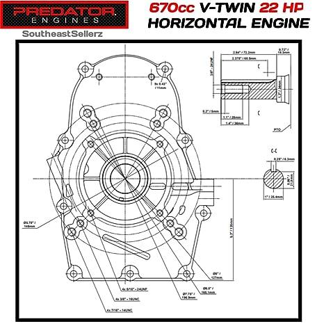 71NO64 77eL._SX466_ amazon com 22 hp (670cc) v twin horizontal shaft gas engine epa